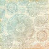 Fond en pastel multicolore de napperon de dentelle de vintage Images stock