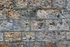 Fond en pierre approximatif de mur de bloc Image stock