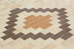 Fond en pierre carré de trottoir Images libres de droits