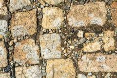 Fond en pierre de pavé et de gravier Images libres de droits