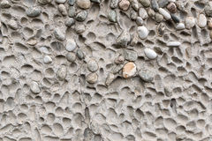 Fond en pierre grunge concret de texture de cailloux Image libre de droits