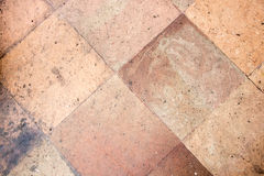 Fond en pierre orange de texture de trottoir de bloc Photos stock