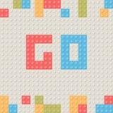 Fond en plastique de bloc de construction Blo de bâtiment de jouet d'enfants illustration libre de droits