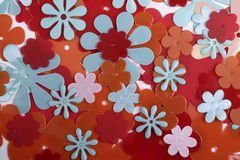 Fond en plastique de fleur Images libres de droits