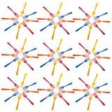 Fond en plastique de Starburst de fourchette Image libre de droits