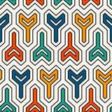 Fond en plusieurs directions de verrouillage de trois blocs Le bobinier verrouille le motif Modèle extérieur sans couture ethniqu Illustration Stock