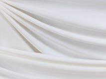 Fond en soie blanc Photographie stock libre de droits