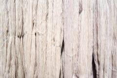 Fond en soie cru blanc de fil Image stock
