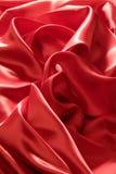 Fond en soie rouge Image libre de droits