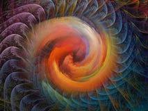 Fond en spirale Photo stock