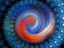 Fond en spirale Photographie stock