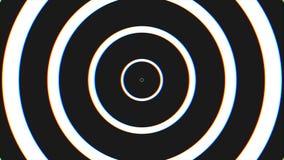 Fond en spirale de bouclage sans couture noir et blanc d'hypnose Animation hypnotique de cercles Effet graphique hypnotique illustration de vecteur