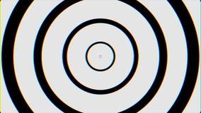 Fond en spirale de bouclage sans couture noir et blanc d'hypnose Animation hypnotique de cercles Effet graphique hypnotique illustration libre de droits