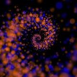 Fond en spirale de lumières d'infini Images stock