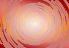 Fond en spirale rouge, jaune et orange abstrait Images libres de droits