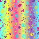 Fond en spirale rougeoyant Modèle sans couture de gradient de vecteur Photographie stock