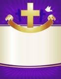 Fond en travers chrétien Images stock