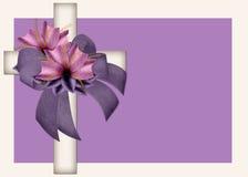 Fond en travers chrétien décoré Images stock