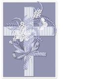 Fond en travers chrétien rayé bleu Photo stock