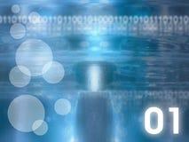 Fond en verre abstrait - bleu Images libres de droits