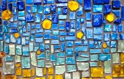 Fond en verre coloré de mur de mosaïque Photos libres de droits