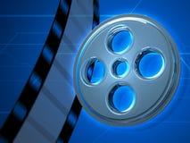 Fond en verre de la bande 3D de film Photos libres de droits
