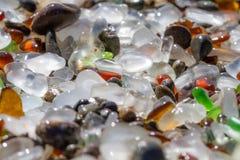 Fond en verre de mer Photo stock