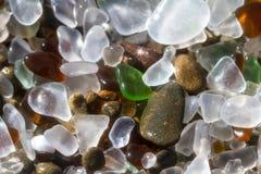 Fond en verre de plage photos libres de droits