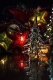 Fond en verre de vacances d'arbre image libre de droits
