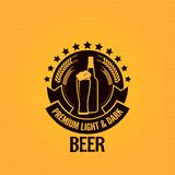 Fond en verre de vintage de bouteille à bière illustration stock