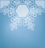 Fond en verre givré avec des flocons de neige Photos libres de droits