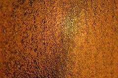 Fond en verre orange et jaune d'or - art abstrait et couleur Photo libre de droits