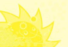 Fond ensoleillé jaune Image libre de droits