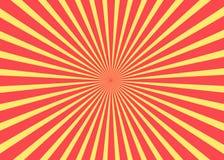 Fond ensoleillé Modèle de Soleil Levant Illustration abstraite de rayure Fond ensoleillé de rayon de soleil Modèle de Soleil Leva Photo libre de droits