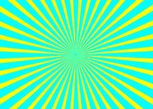 Fond ensoleillé Modèle de Soleil Levant Illustration d'abrégé sur rayure de vecteur sunburst image libre de droits