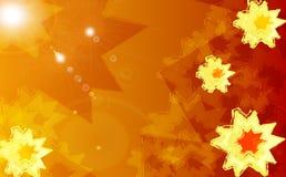 Fond ensoleillé orange/rouge Image libre de droits