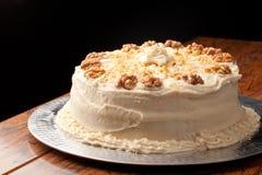 Fond entier de noir de gâteau de cannelle de noix d'érable Image stock