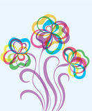 Fond EPS10 décoratif avec les fleurs abstraites Photos libres de droits