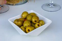 Fond espagnol d'olives Images libres de droits