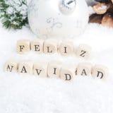 Fond espagnol de Joyeux Noël Photos libres de droits