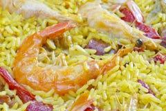 Fond espagnol de Paella Photo stock