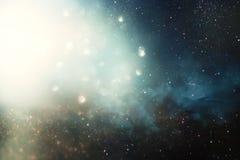 Fond et abstrait Galaxie, nébuleuse et texture étoilée d'espace extra-atmosphérique photos libres de droits