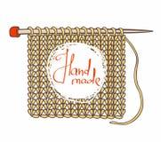 Fond et aiguilles tricotés pour le tricotage Illustration Stock