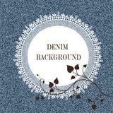 Fond et cadre élégants de jeans illustration stock