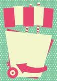 fond et cadre de style de wagon-restaurant des années 1950 illustration de vecteur