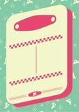 fond et cadre de style de wagon-restaurant des années 1950 illustration stock