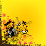 Fond et cadre jaunes Image stock