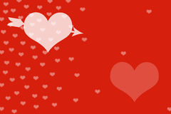 Fond et coeur rouges illustration stock