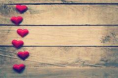 Fond et coeurs de jour de valentines avec l'espace Images libres de droits