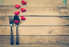 Fond et coeurs de jour de valentines avec l'espace Photos libres de droits